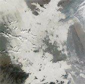 Nhìn thấy khói bụi Trung Quốc từ không gian