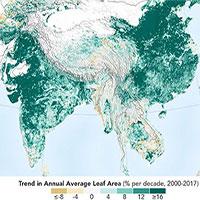 Ô nhiễm đứng đầu thế giới nhưng Ấn Độ và Trung Quốc lại đang làm Trái đất xanh hơn