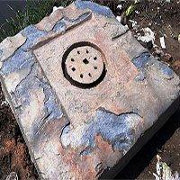 Phát hiện khối đá nghi cổ vật Chăm Pa khi thi công móng cầu