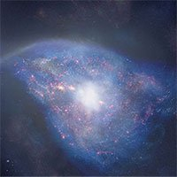 Phát hiện vụ sáp nhập thiên hà cách đây 13 tỷ năm