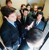 Quy tắc chọn chỗ đứng trong thang máy