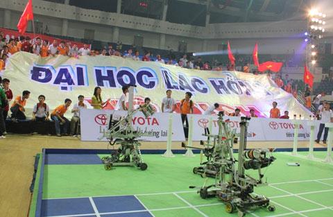 Robocon đại học Lạc Hồng xuất quân thi quốc tế