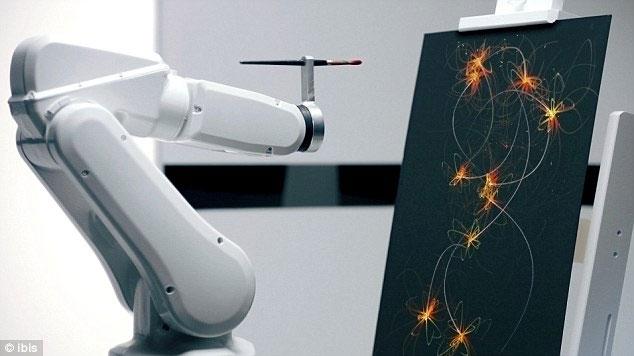 Robot vẽ tranh đẹp như họa sỹ
