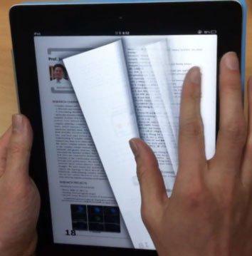 Sách điện tử lật được trang như sách giấy