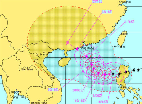Siêu bão Megi tăng cấp khi vào biển Đông