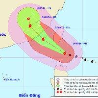 Siêu bão Meranti di chuyển nhanh vào biển Đông