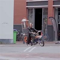 Sinh viên Hà Lan chế tạo xe máy chạy bằng khí methane