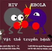 So sánh mức độ nguy hiểm giữa virus HIV và Ebola