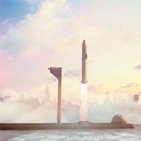 SpaceX xây sân bay vũ trụ nổiđể phóng tàu lên sao Hỏa
