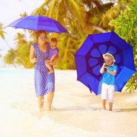 Sử dụng ô không có hiệu quả chống nắng