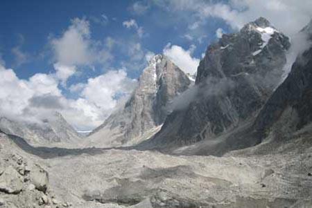 Sự tồn tại của các sông băng trong dãy Himalaya