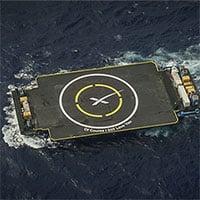 Tàu nổi đón tên lửa mới nhất của SpaceX