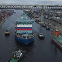 Tàu phá băng mạnh nhất thế giới bắt đầu thử nghiệm trên biển