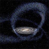 Thiên hà nhiều lần đâm xuyên qua dải Ngân Hà