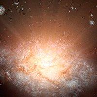 Thiên hà sáng nhất vũ trụ đang bốc hơi