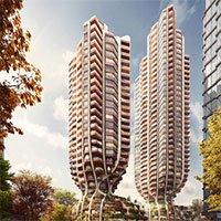 Thiết kế độc đáo: Hai tòa nhà