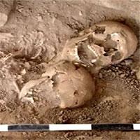 Tìm thấy ngôi mộ chứa hài cốt