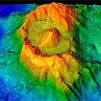 Tìm thấy tàn tích núi lửa giống trong phim