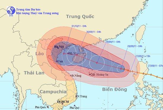 Tin bão trên biển Đông (Cơn bão Nesat)