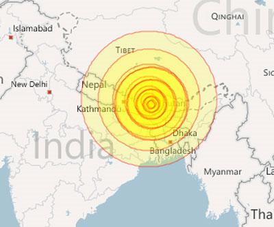 Tình cảnh người dân vùng động đất Himalaya