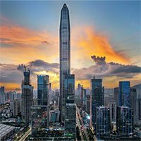Tòa nhà cao gần 600m có thể chống ăn mòn ở Trung Quốc