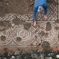Tranh khảm đá 1.500 năm tuổi trong biệt thự La Mã