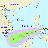 Trưa nay, cơn bão Kai-Tak sẽ đổ bộ vào biển Đông
