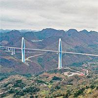 Trung Quốc thông xe cầu dây văng có tháp bê tông cao nhất thế giới