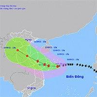 Từ đêm nay, bão số 5 (Conson) gây mưa to, gió lớn ở ven biển miền Trung