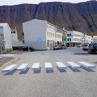 Vạch qua đường 3D khiến các tài xế