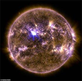 Vết lóa mặt trời mạnh nhất trong năm