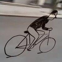 Video: Ảo giác người đi xe đạp trên cửa kính ôtô gây sốt mạng xã hội