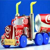 Video: Cách làm xe tải từ vỏ lon Coca