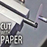 Video: Cách tạo lưỡi dao bằng giấy cắt xuyên nhựa và gỗ