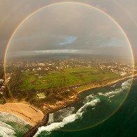 Video: Cầu vồng hình tròn xuất hiện trên bầu trời Anh