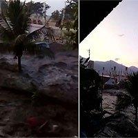 Video chưa từng công bố: Khoảnh khắc sóng thần nhấn chìm thành phố biển của Indonesia