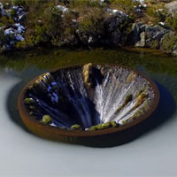 Video: Hố nước tuyệt đẹp giữa lòng hồ ở Bồ Đào Nha