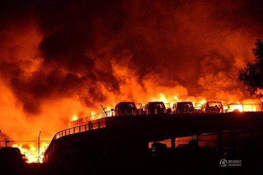Vụ nổ ở Thiên Tân có sức công phá