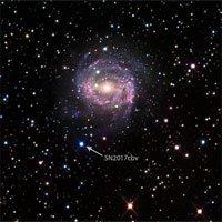 Vụ nổ siêu tân tinh cách Trái Đất 55 triệu năm ánh sáng