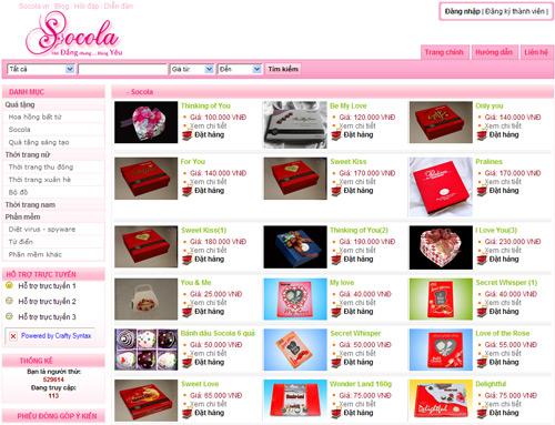Website bán quà tặng trực tuyến
