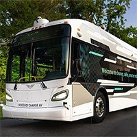 Xe buýt tự lái hạng nặng đầu tiên ở Bắc Mỹ