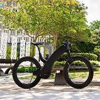 Xe đạp điện không có nan hoa, trục vòm bánh