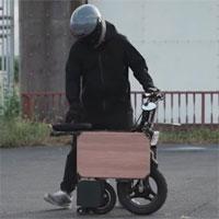 Xe máy điện tốc độ 40km/h có thể gấp gọn như vali kéo