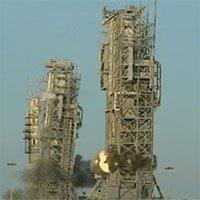Xem cảnh phá dỡ tổ hợp bệ phóng tên lửa của NASA chỉ trong nháy mắt