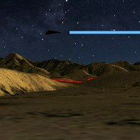 Xôn xao UFO hình tam giác đen trên bầu trời đêm Willcox